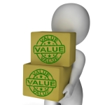 """Value Boxes Show Product Quality And Worth"" by Stuart Miles"