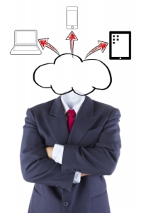 """Invisible Businessman Cloud Computing Head Brain Idea"" by pakorn"