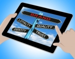 """Brand Tablet Shows Loyalty Identity Quality And Trust"" by Stuart Miles"